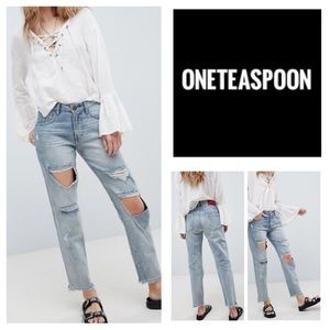 One Teaspoon Blue Storm Awesome Baggies Jeans. NWT